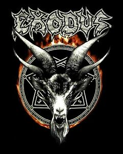 EXODUS-cd-lgo-DEMON-GOAT-FLAMES-Official-2015-TOUR-SHIRT-SMALL-new