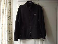 Men's Karrimor Fleece Jacket Medium Black Dark Gray Zipper M Warm Layer Skiing