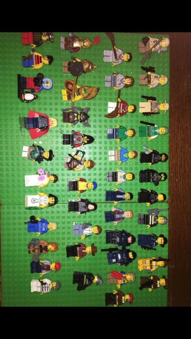 LEGO 45 45 45 Minifigures Lot Bulk Minifigs City Town Pirates Castle bb90c9