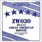 D'addario Zw030 Corda singola acustica EZ Great American BRZ