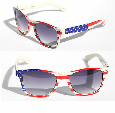 USA AMERICAN FLAG STARS /& STRIPES PATRIOTIC SQUARE SUNGLASSES CLASSIC RETRO 80s