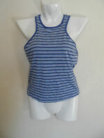 Xhilaration Womens Sport Fitted Tank Color - Blue Stripe - Size:m