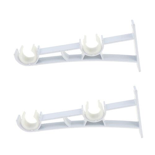 Supports de double tringle à rideau