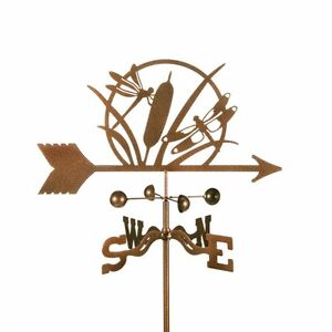 Dragonfly-and-Cattail-Weathervane-Weather-Vane-with-Choice-of-Mount