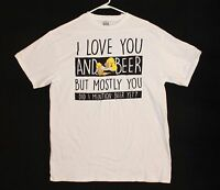 The Simpsons Homer Beer T-shirt Men's Size L Color White
