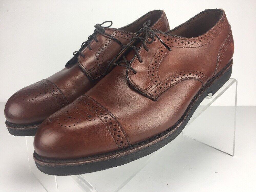 Allen Edmonds Lake Forest Men's Size 11.5 B Brown Leather Cap Toe Oxfords