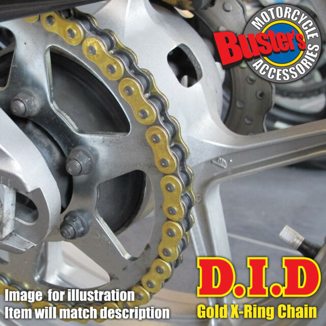 Ducati 750 Monster Dark 2000 DID Gold X-Ring Chain 520VX2 GB x 100