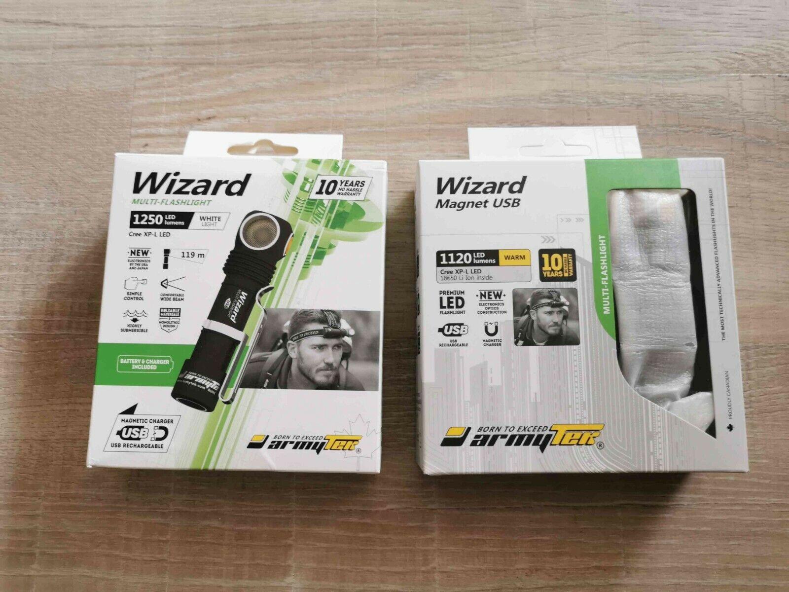 Lampe davantiale Armytek Wizard XPL V4 USB  11201250 Luuomini