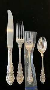 Sterling-Bestecke-Set-fuer-12-True-Dinner-Sir-Christopher-von-Wallace-48-PCs