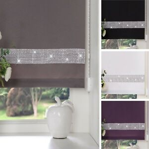 EASY-To-FIT-DIAMOND-DIAMANTE-TRIM-STRAIGHT-EDGE-ROLLER-BLINDS-WINDOW-BLIND