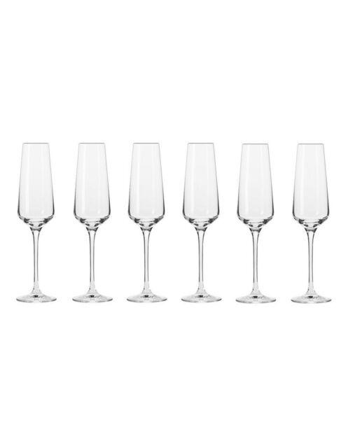 Krosno Avant Garde Champagne Flute 180ML 6pc Gift Boxed