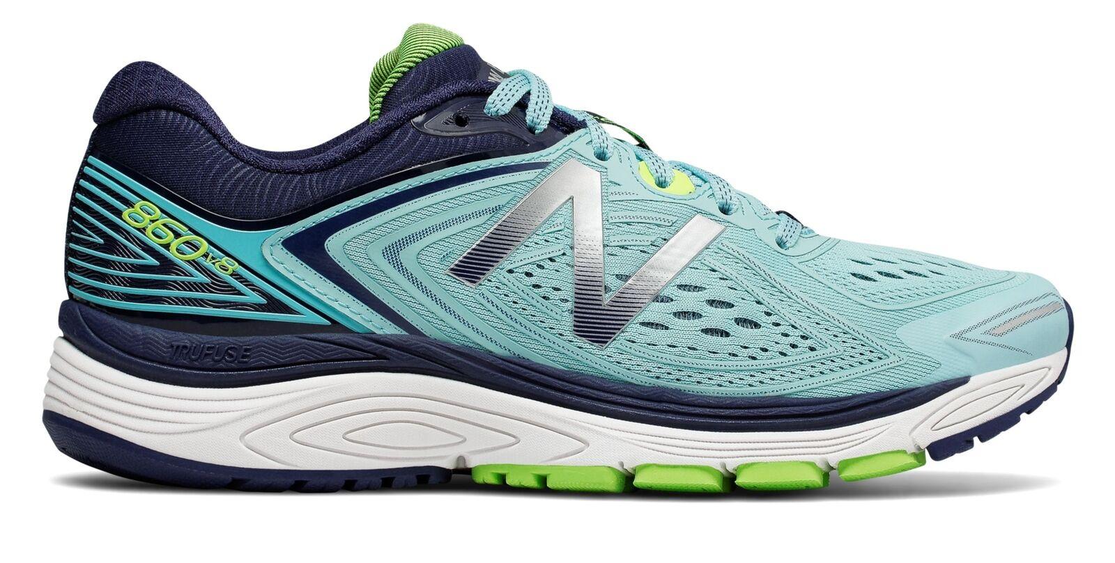 New Balance Female Wouomo 860V8 Running scarpe scarpe da ginnastica blu With Navy & verde