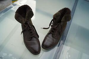 jenny-Damen-Winter-Schuhe-Stiefel-Boots-gefuettert-Patchwork-Leder-Gr-6-G-39-5-g