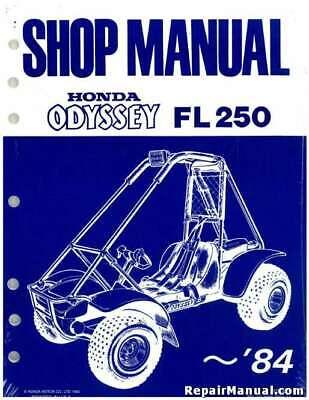 1977-1984 fl250 honda odyssey service manual | ebay  ebay