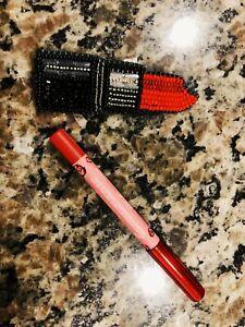 NEW-SAMPLE-LIME-CRIME-Mini-Velvetines-Lip-Liner-0-028oz-Color-Poison-ruby-red