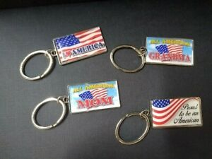 United States Red White and Blue American Flag Keychain