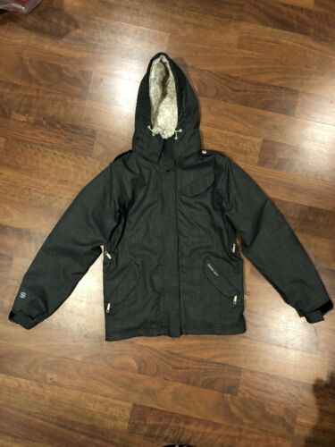 Special Blend First Chair Last Call Womens S Snowboard Ski Jacket Gray//Wht//Tan