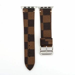 Watch-Band-Leather-Strap-For-38-40mm-42-44mm-Apple-4-3-2-1-Series-Grid-Pattern