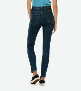 Levi-039-s-Line-8-Women-Dark-Blue-High-Rise-Skinny-Fit-Jeans-W29-L30-W29-L32