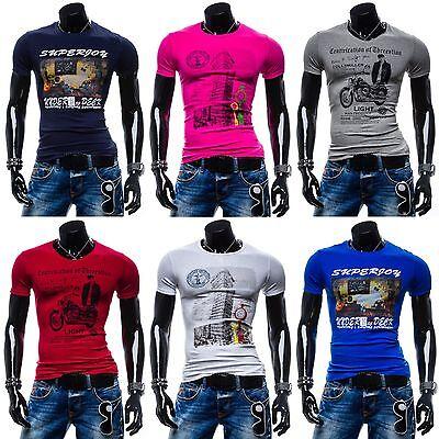 BOLF Superjoy T-Shirt Kurzarm Hemd Aufdruck Shirt Motiv Basic MIX 3C3 Kurzarm