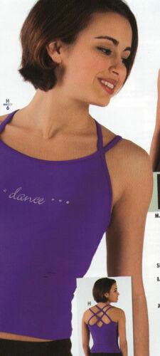 "NWT Strappy Camisole /""DANCE/"" Rhinestone Top Raspberry Ladies Sizes"