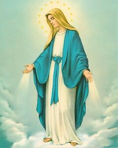 Catholic-Print-Picture-OUR-LADY-OF-GRACE-Blessed-Virgin-Mary-8x10-034-from-Italy