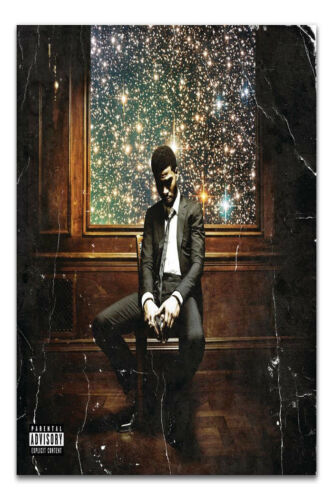 H-723 Rap Cover Kid Cudi Man On the Moon The Legend of Mr Rager Wall Silk Poster