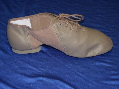 So Danca JZE15 Tan Lace up Leather Split Sole Jazz Shoes
