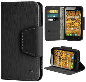 BLACK-INFOLIO-WALLET-CREDIT-CARD-ID-CASH-CASE-FOR-ALCATEL-ONE-TOUCH-FIERCE-7024W