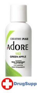 BL Adore Semi-Permanent Haircolor #163 Green Apple 4 oz - THREE PACK