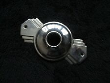 Vintage Art Deco Ornate Stepped Door Knob Plate Cover Stainless Steel