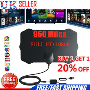 UK-Portable-TV-Antenna-Indoor-Outdoor-Digital-HD-Freeview-Aerial-Ariel-20-OFF