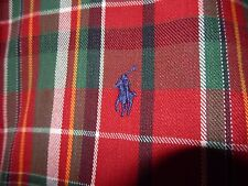Ralph Lauren Pony Logo Button Down Shirt THE BIG SHIRT-size L, red/rust plaid