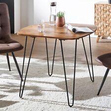 Finebuy Esszimmertisch Esstisch Mit Metallbeinen Tisch Massivholz