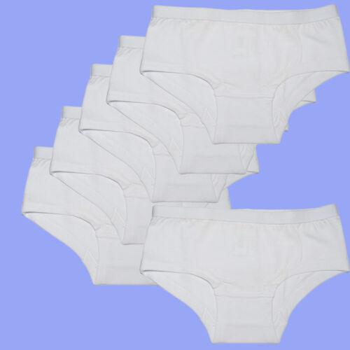 6 Pièces Enfants Fille Hipster Pantys sous-vêtements Slip coton 122-152