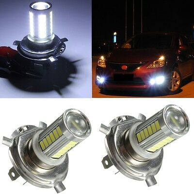 2x H4 10W 5630 SMD 33 LED Car Fog Headlight Bulb Head Light Lamp 12V Xenon White