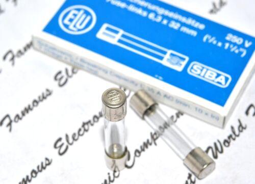 1pcs 20A  250V 6.3x32mm Glass Fuse For Audio ELU // SIBA T