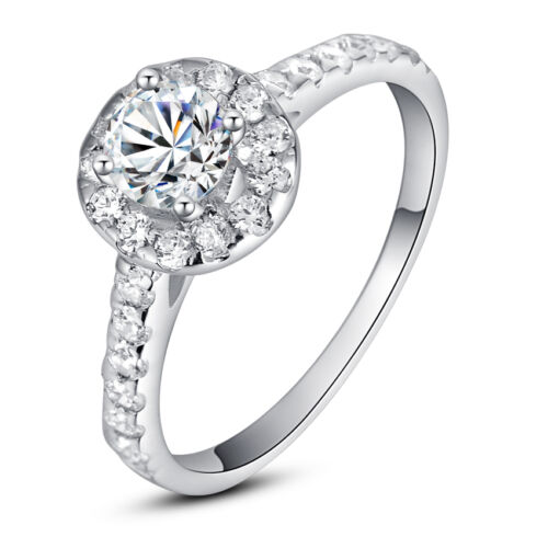 ViVi Ladies Anniversary sterling silver Diamond Ring 8453a Birthday Gifts