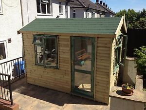 8 x 8 garden office/gym/hot tub/summerhouse/fully pressure