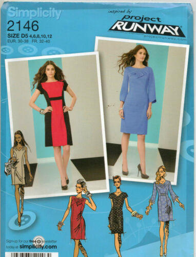 Simplicity Project Runway 2146 Dress Sewing Pattern Ebay