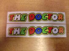 THE DOCTOR - 2x valentino rossi screen / helmet stickers / decals 130mm