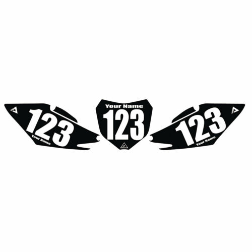 Attack Graphics Number Plate Backgrounds Honda CRF450X 2005-2007 Fits