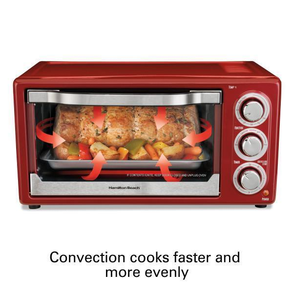 Small Countertop Convection Oven redisserie Baking Kitchen Appliance Compact