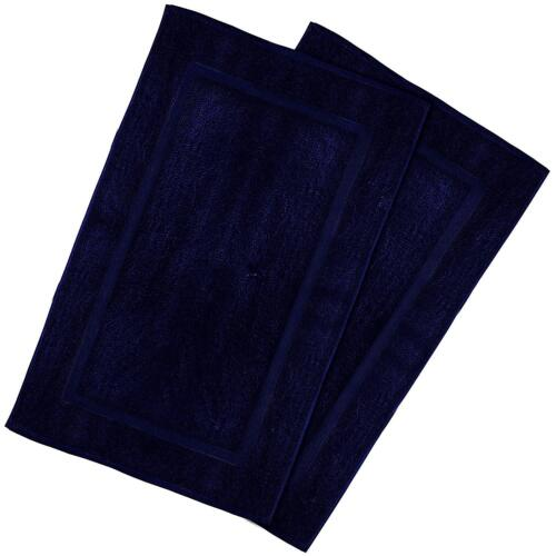 Bath Mat Cotton Washable Contour Rug 21x34 Inch Tub Mat 2 Pack by Utopia Towels