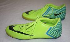 Men's Nike Mercurial Vapor Soccer Shoes Cleats Green Blue Stripes RARE Size 7