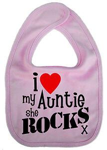 Auntie-Baby-Bib-034-I-Love-My-Auntie-She-Rocks-034-Aunt-Aunty-Nephew-Niece-Gift