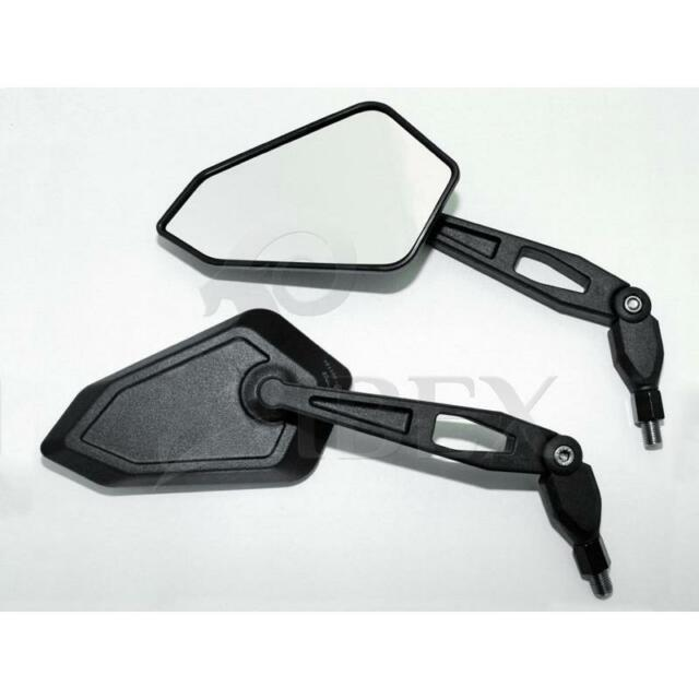 Motocicleta Espejo Universal Espejo Del Manillar Mirrow Booster Negro M10 Par