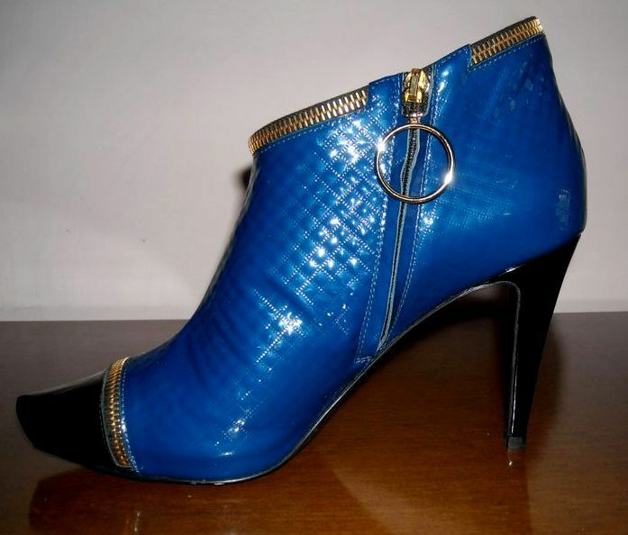 Zapatos casuales salvajes ALBERTO GUARDIANI Made Made GUARDIANI in Italy leather ankle boots stivaletti pelle 39 (38) NIB 01c051