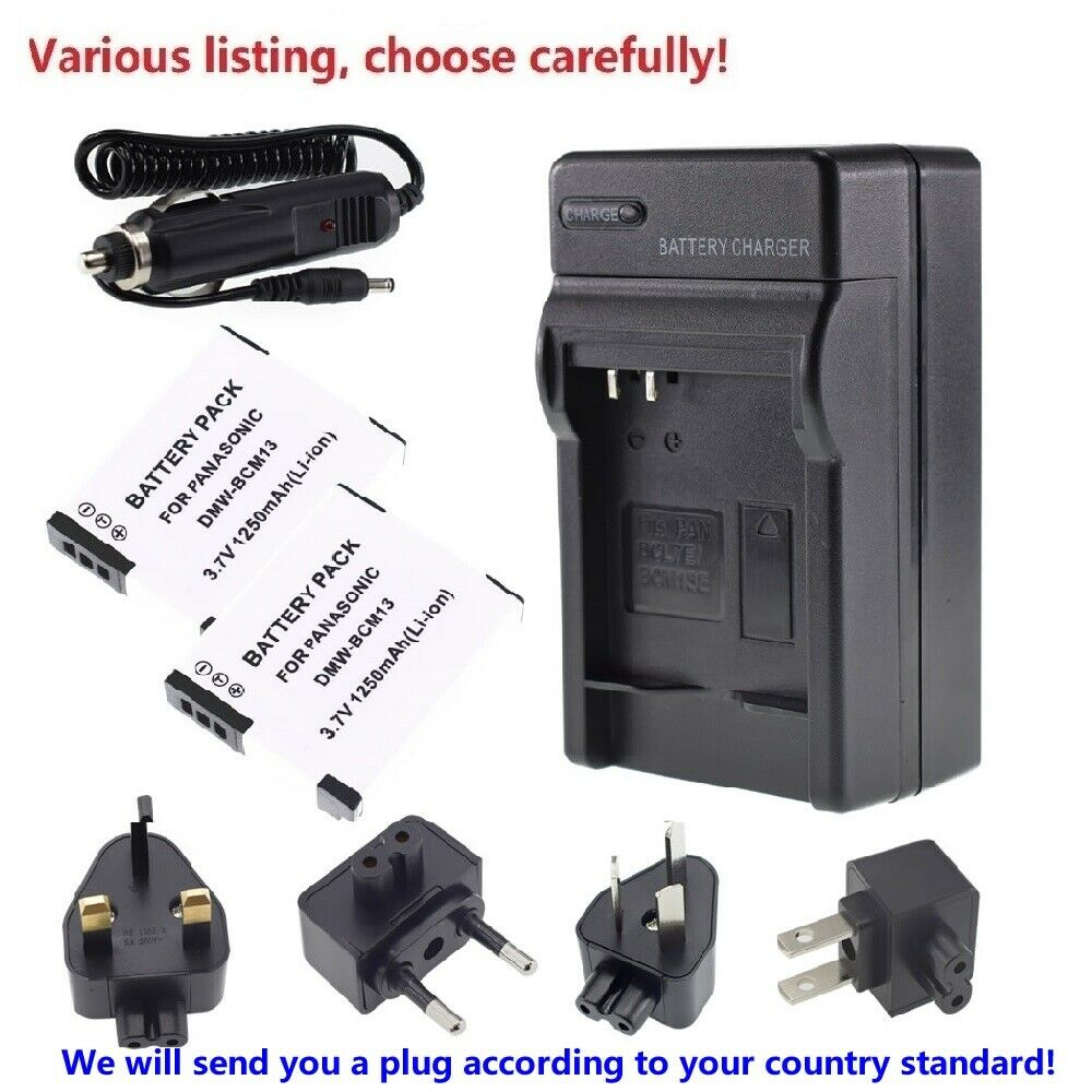 Battery or charger For Panasonic Lumix DMC-TZ55,DMC-TZ57, DMC-TZ60, DMC-TZ70 Cam