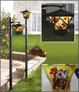 solar gartenlaterne 2 in 1 tiffany design beleuchtung. Black Bedroom Furniture Sets. Home Design Ideas